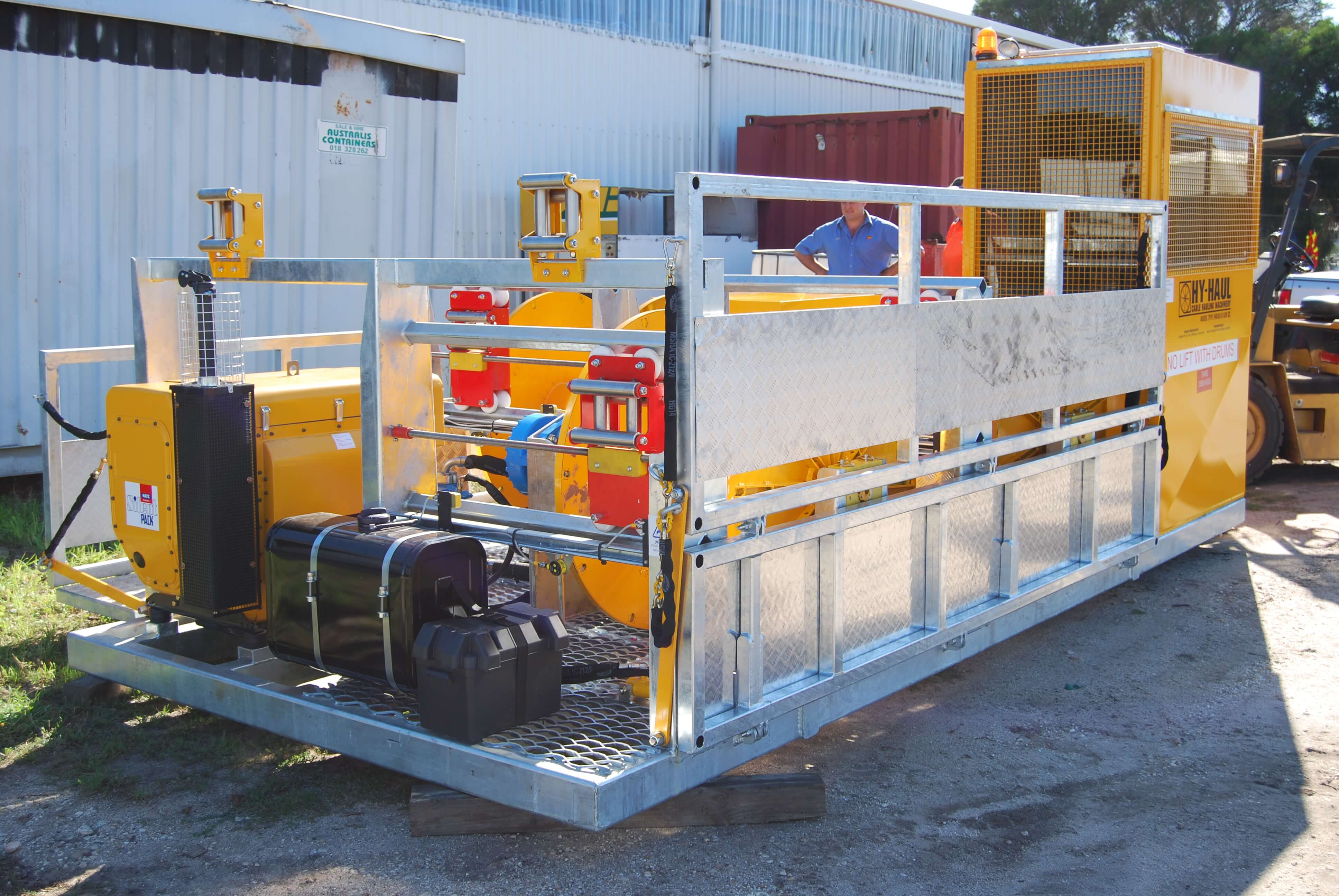 Hydeng Cable Hauling machine construction