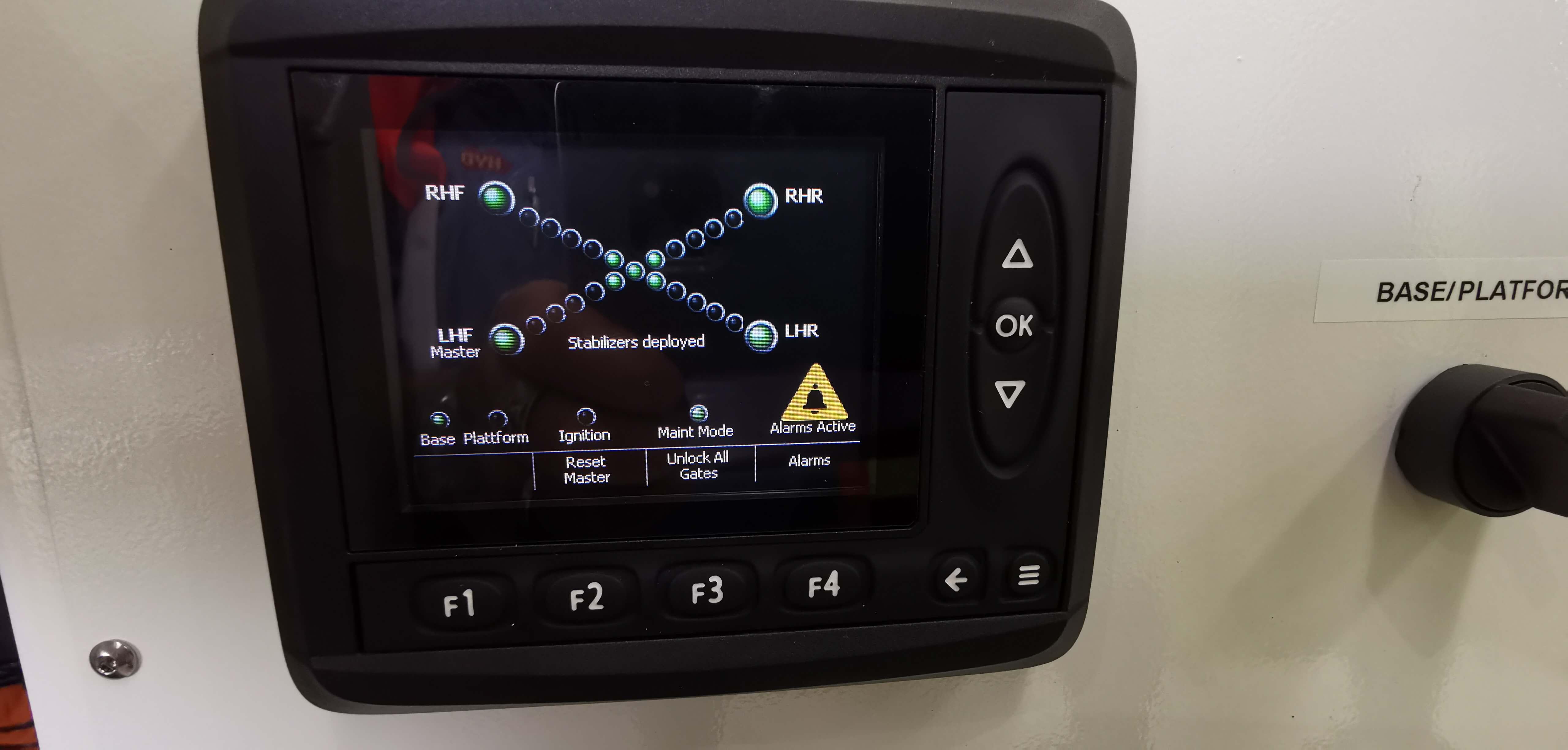 Mobile scissor platform controls